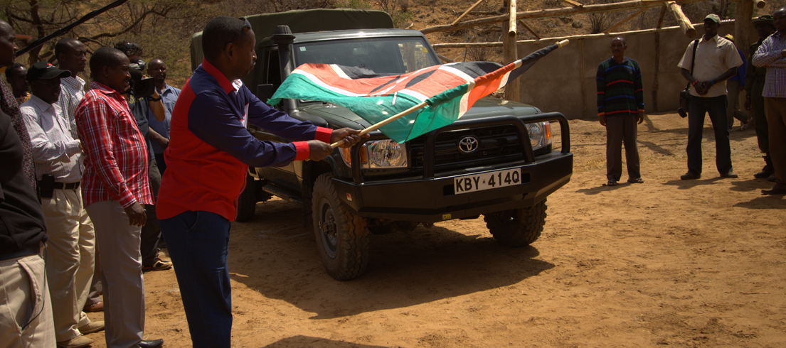 Samburu Ground Support - Anti-Poaching Vehicle Hand-Over Ceremony