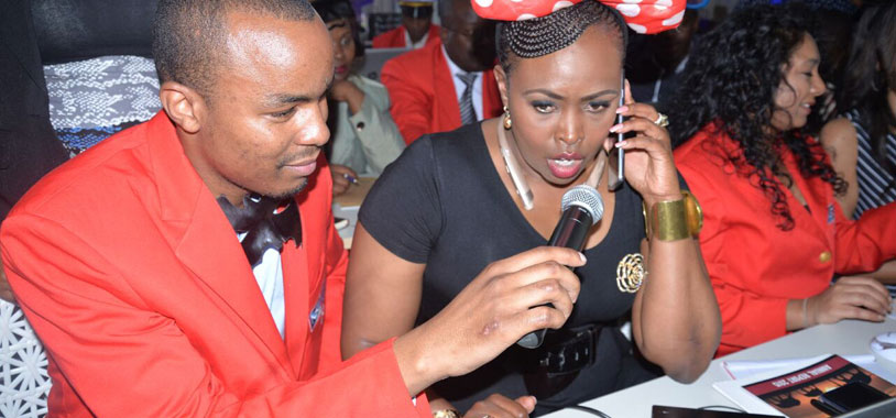 Caroline Mutoko makes a call to an investor