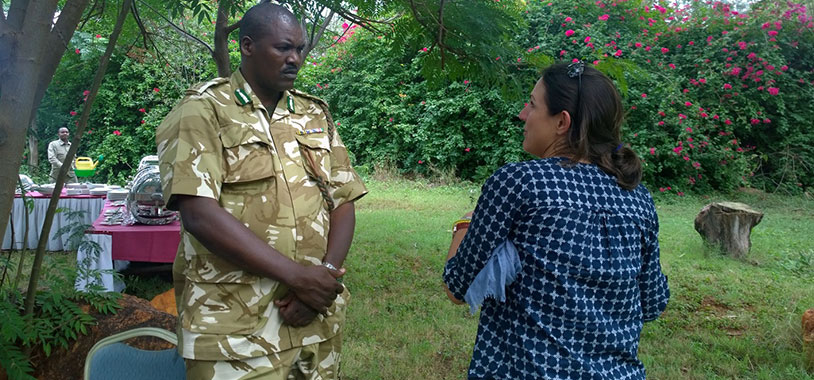 New KWS Deputy Director of Security, Mr. Siengei with STE's Dr. Lucy King